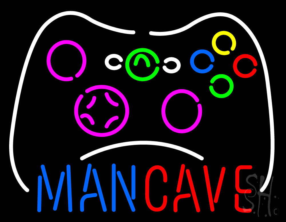 Man Cave Lighted Signs : Man cave neon sign signs every thing