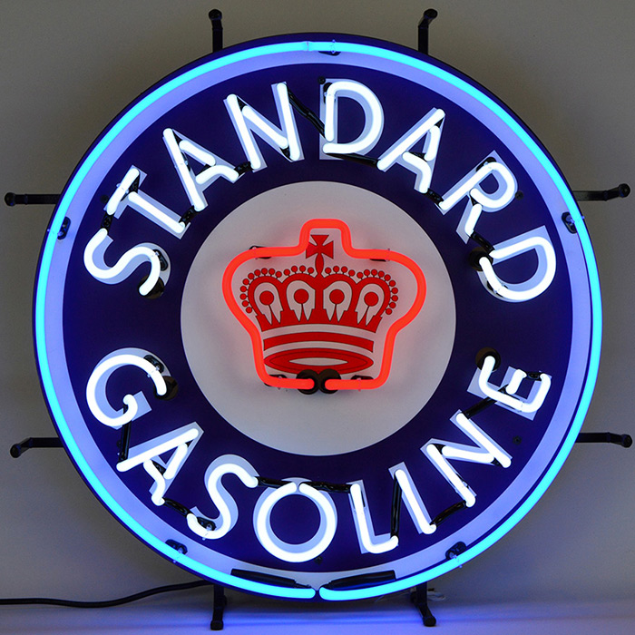 Standard Gasoline Neon Sign with Backing