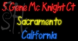 Custom 5 Gene Mc Knight Ct Sacramento California LED Sign 2