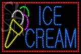 Custom Blue Ice Cream With Red Border Animated Led Sign 3