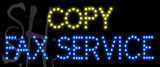 Custom Copy Fax Service Led Sign 2