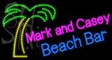 Custom Mark And Casey Beach Bar Led Sign 2