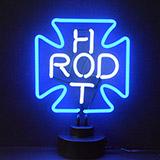Hot Rod Cross Neon Sculpture