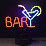 BAR with Martini glass Neon Sculpture
