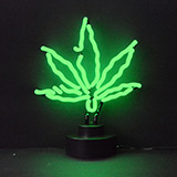 Pot Leaf Neon Sculpture