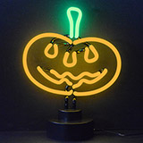 Pumpkin Neon Sculpture
