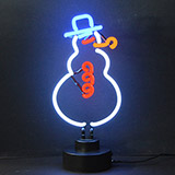 Snowman Neon Sculpture