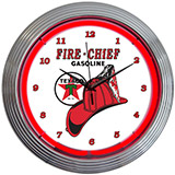 Texaco Fire Chief 15 Inch Neon Clock