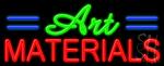 Art Materials Neon Sign
