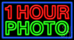 1 Hour Photo Neon Sign