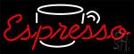 Espresso Coffee Cap Neon Sign