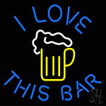 I Love This Bar Beer Mug Neon Sign