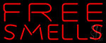 Red Free Smells Neon Sign