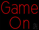 Red Game On Neon Sign