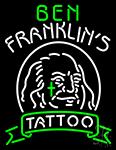 Ben Franklins Tattoo Neon Sign