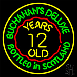 Buchanans Deluxe Bottled In Scotland Years 12 Old Neon Sign