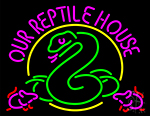 Our Reptile House Neon Sign