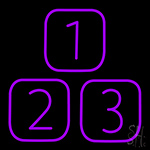 1 2 3 Neon Sign