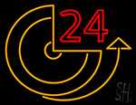 24 Hour Clock Neon Sign