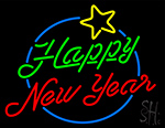 Happy New Year Logo Neon Sign