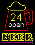 24 Open Beer Neon Sign