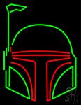 Boba Fett Helmet Star Wars Neon Sign