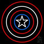 Captain America Shield Neon Sign