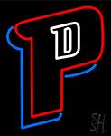 Detroit Pistons P Logo Neon Sign