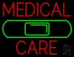 Medical Care Band Aid Neon Sign