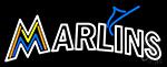 Miami Marlins Text Logo Neon Sign