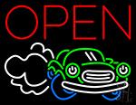 Open Car Neon Sign
