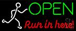 Open Run Ln Herei Neon Sign