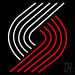 Portland Trailblazers Logo Neon Sign