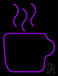 Purple Coffee Cup Neon Sign