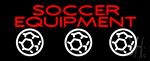 Soccer Equipment Neon Sign