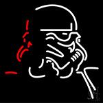 Star Wars Storm Trooper Art Neon Sign
