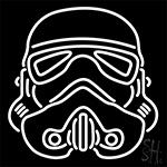 Star Wars Storm Trooper Helmet Neon Sign