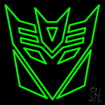 Transformers Deceptions Neon Sign