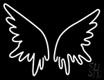 White Wings Neon Sign