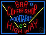Bar Coffee Shop Pool Table Neon Sign
