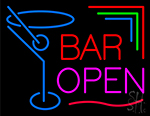 Bar Open With Martini Neon Sign