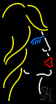 Blowing Kisses Neon Sign