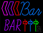 Blue Bar Neon Sign