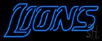 Blue Lions Neon Sign