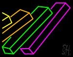Books Multicolor Logo Neon Sign