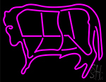 Butcher Logo Neon Sign