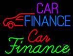 Car Finance With Car Neon Sign