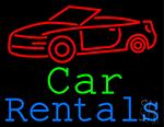 Car Rentals Neon Sign