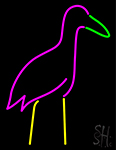 Cattle Egret Neon Sign