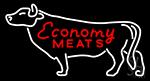 Economy Meats Neon Sign